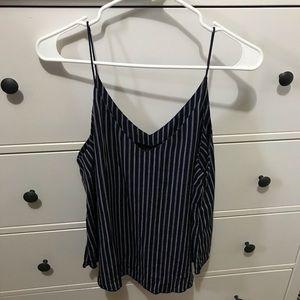 Navy stripes cami blouse Forever 21